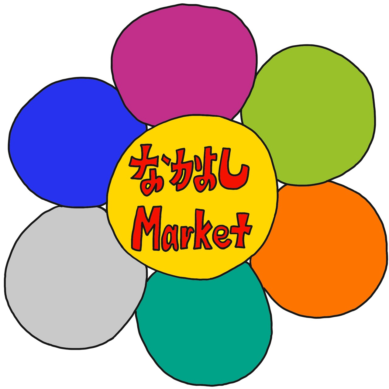 なかよしMarketのロゴイラスト