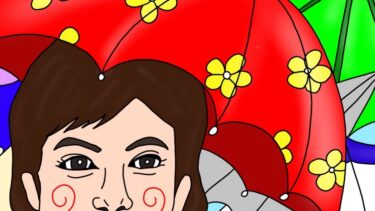 傘の歴史・傘が長持ちする使い方★1日1つ賢くなるプチ雑学【沢口靖子イラスト】